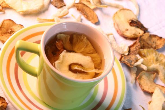 Chá light de frutas secas