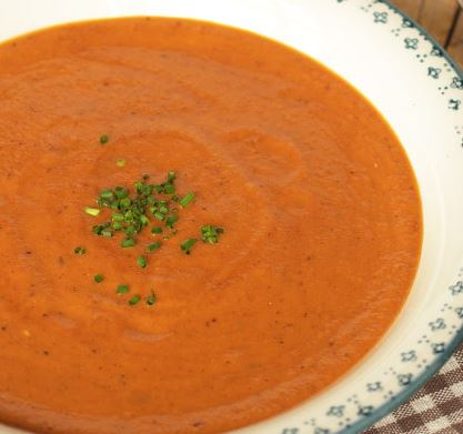 Sopa Picante de Tomate e Chocolate