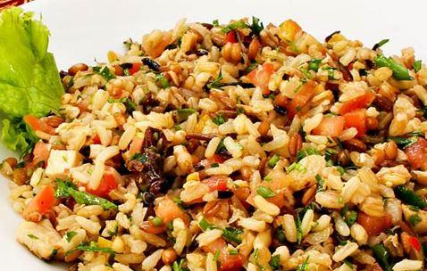 Salada com Cereais e Bacalhau