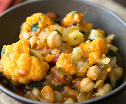 Couve-flor e Grão de Bico ao Curry