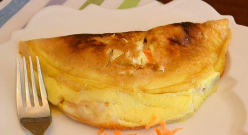 Omeleta de Salmão Fumado