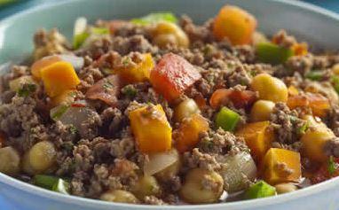 Sopa de Carne Moída e Legumes