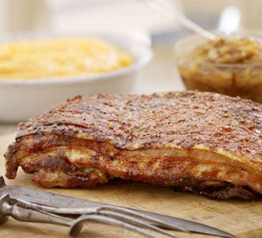 Carne de porco regada com mel