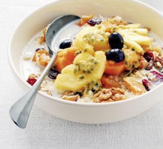 Salada de frutas com damasco