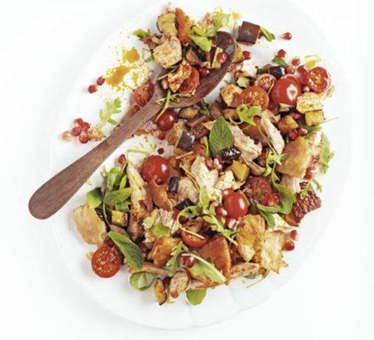 Salada marroquina de peru