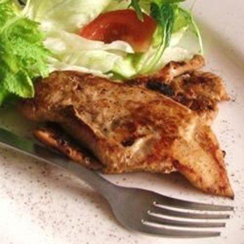 Marinado de frango com alho e soja