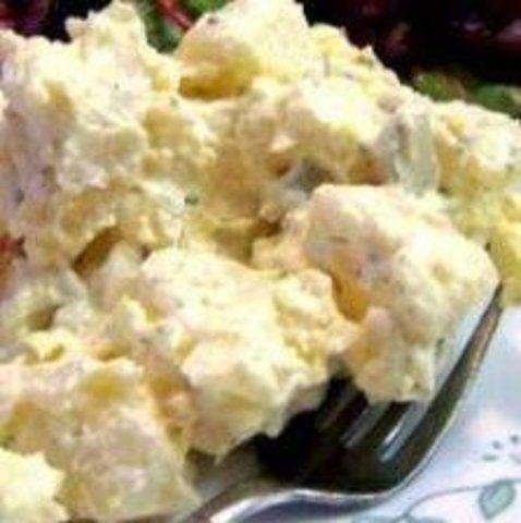 Salada de batatas com ovos