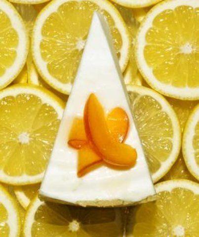 Cheesecake de limão com damascos
