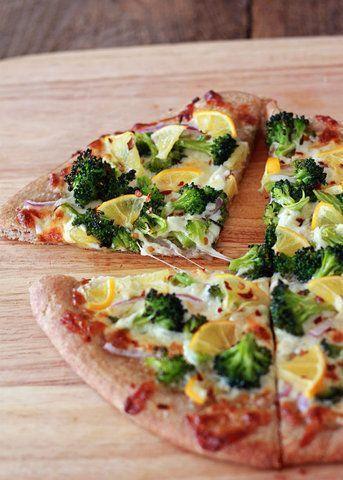Pizza de limão é brócolis