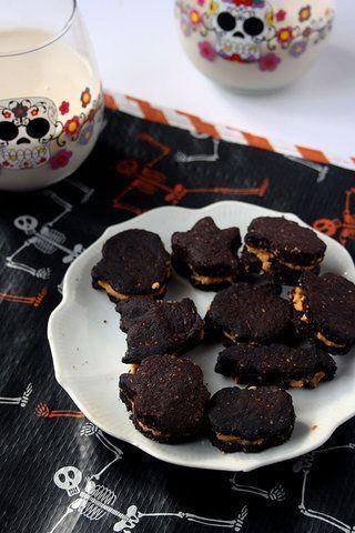 Biscoitos de chocolate com recheio de abóbora