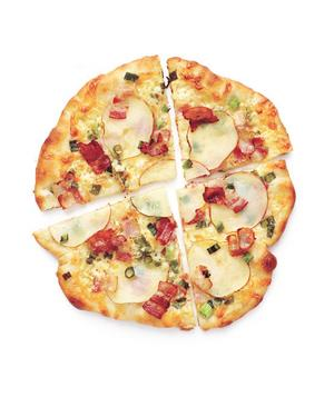Pizza de bacon com batata