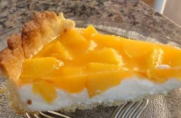Torta de Pêssego Caseiro