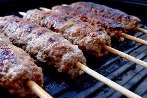 Espetinho de carne Moída