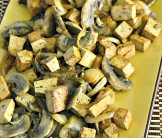 Tofu com Cogumelos