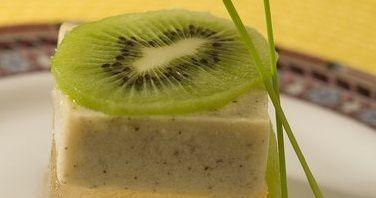 Gelatina de Chá verde com Kiwi