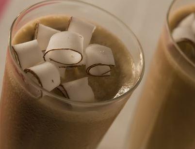 Frappé de café com coco