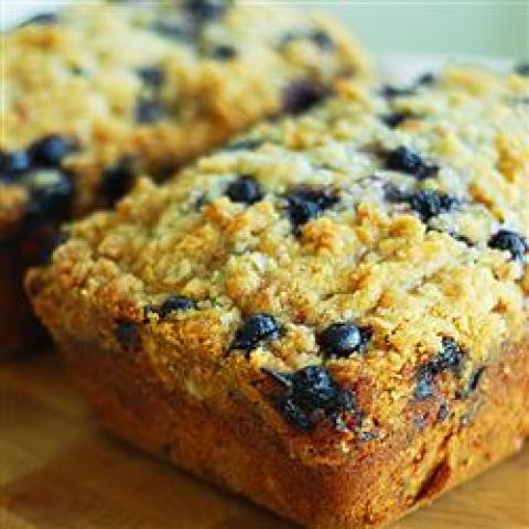 Pão de Abobrinha e Blueberry