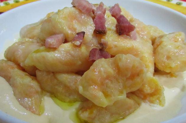 Nhoque de Batata com Cenoura