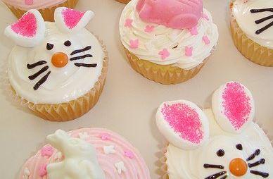 Cupcake coelho da Páscoa
