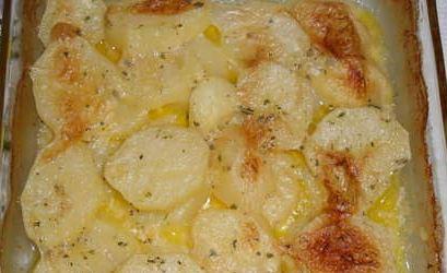 Batatas com Nata ao forno