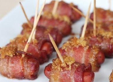 Salsichas Enroladas com Bacon