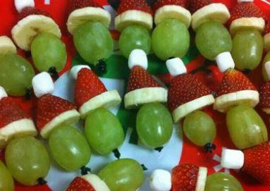 Espetinhos de Frutas para o Natal
