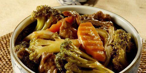 Carne Chop Suey com legumes