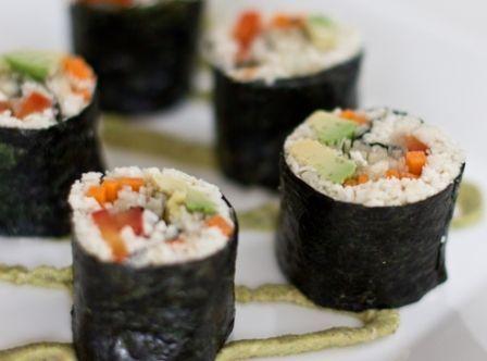 Sushi de vegetais