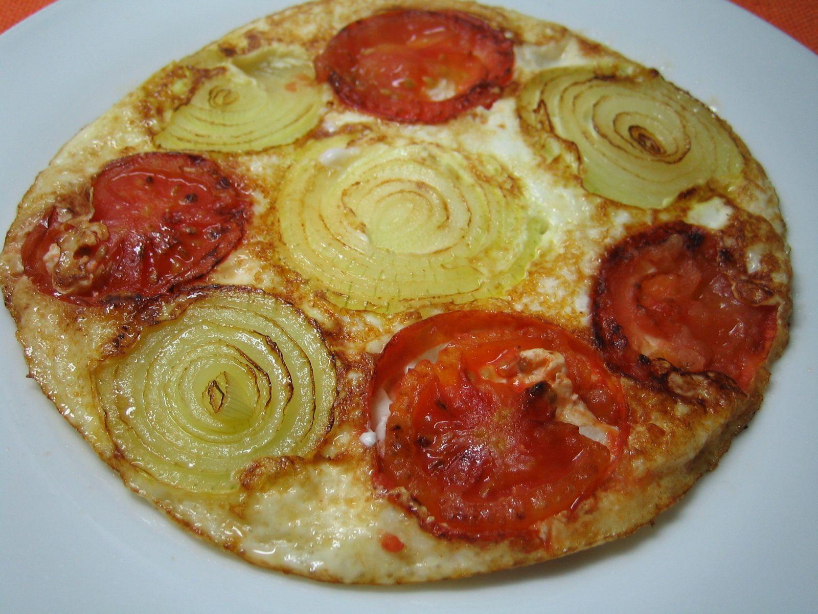 Omelete feito com claras
