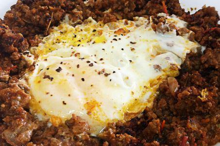 Carne Moída com Ovos