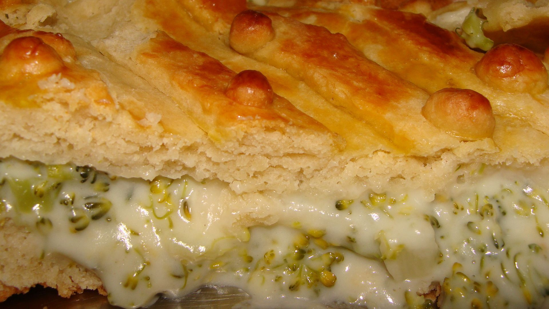 Torta de Brócolis Cremosa