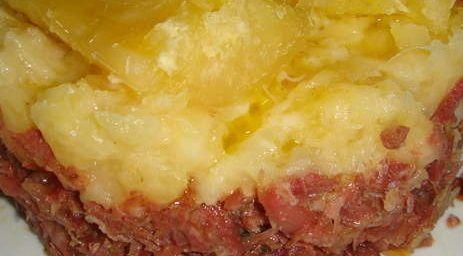 Escondidinho de Carne Seca com Requeijão