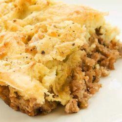 Torta de batata com recheio de carne moída
