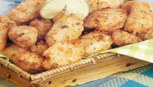 Bolinho de arroz com peixe