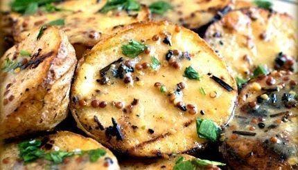 Batatas ao molho de Mostarda