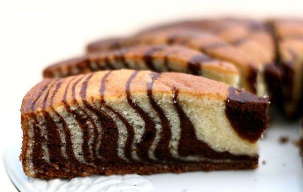 Bolo Zebra de Cenoura com Chocolate