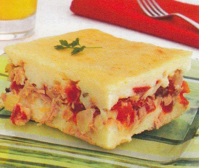 Torta de Arroz e salsicha