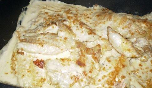 Filé de Peixe ao Molho Branco
