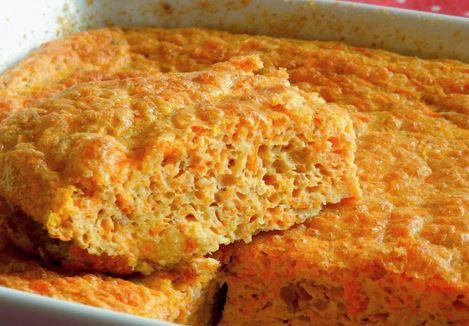 Suflê de cenoura