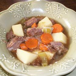 Frango cozido com legumes