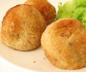 Almondega de Bacalhau com Batata Doce