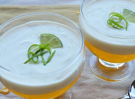 Gelatina de Limão com Mousse de Limão