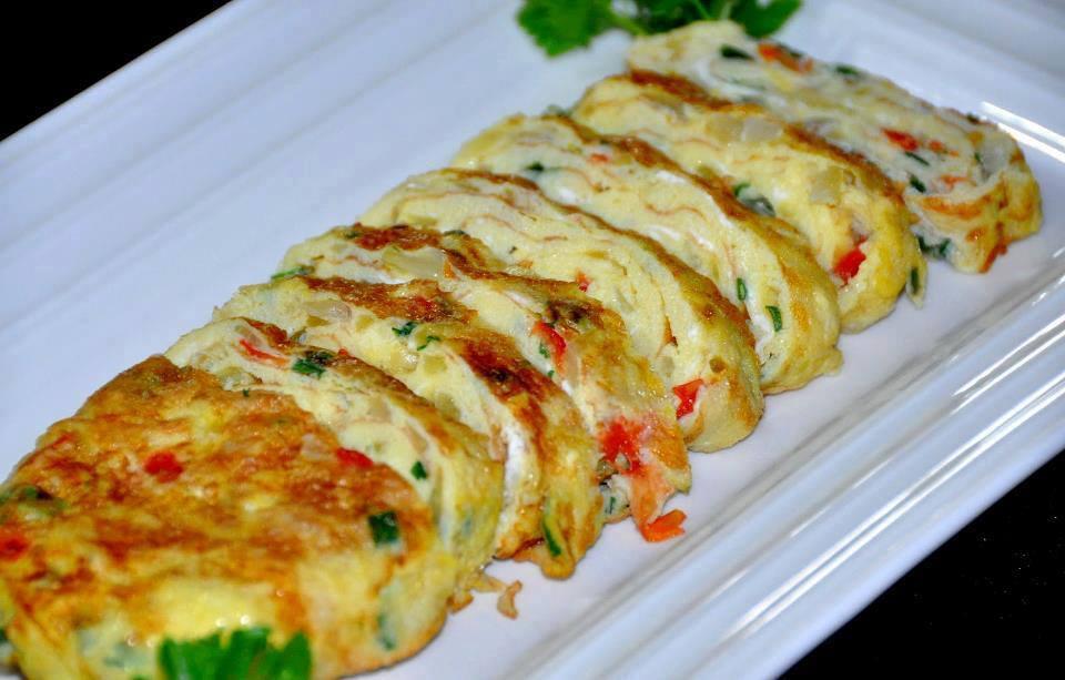Omelete vegetariano