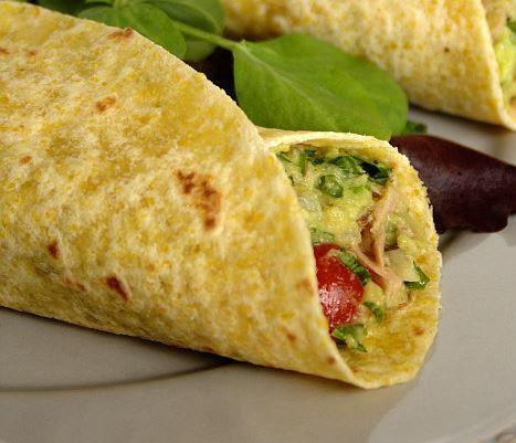 Tacos de Abacate e Atum