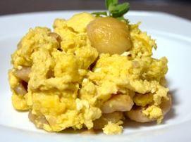 Ovos mexidos com castanha