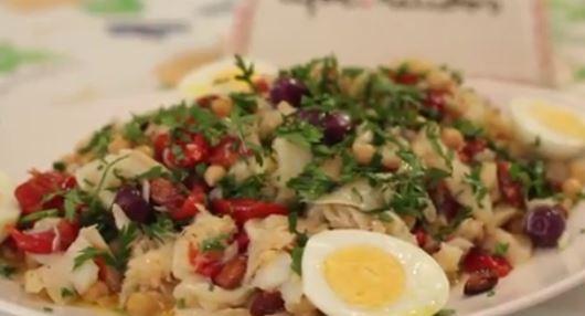 Salada de Bacalhau no Azeite