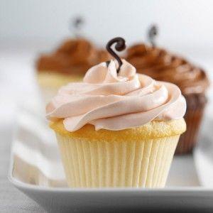 Cupcake recheado com baunilha