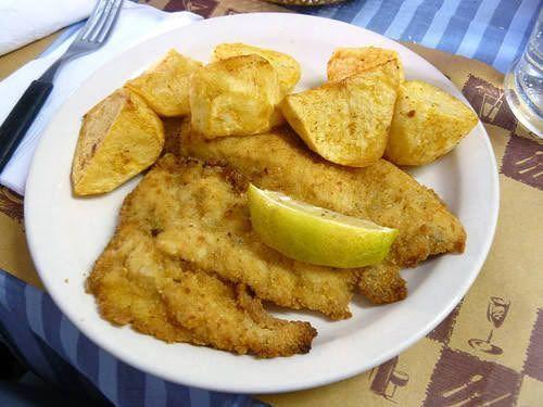 Filé de pescada a milanesa