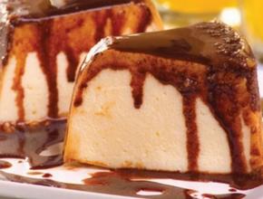 Pudim Sorvete com Cobertura de Chocolate