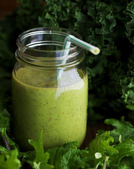 Suco de kiwi com abacate